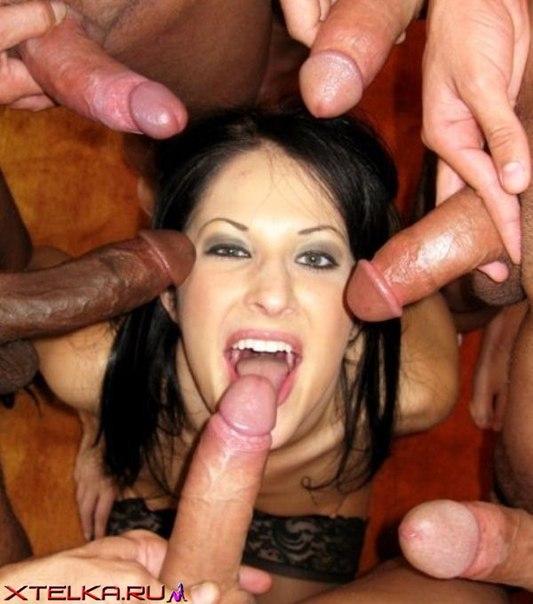 Смелые шалавы делают  нескольким парням - секс порно фото