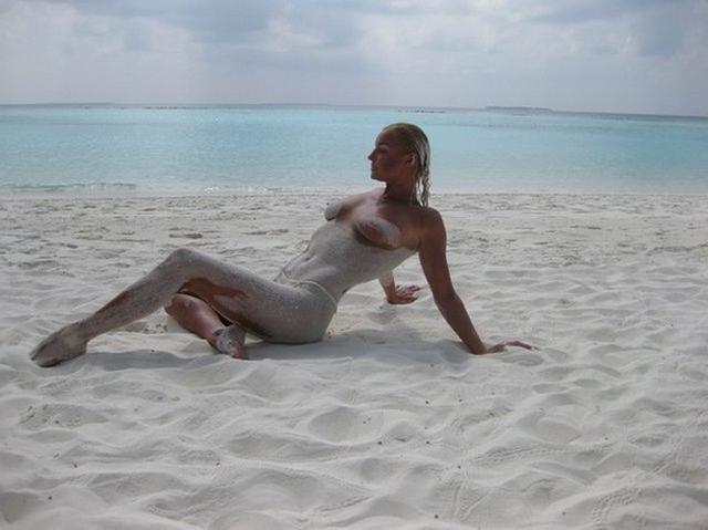 Частный архив красивой блондиночки с отдыха - секс порно фото